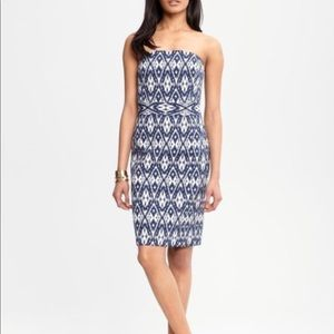 banana republic aztec print strapless dress. NWOT